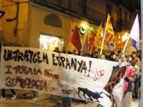 Manifestació a Manresa ultratgem Espanya