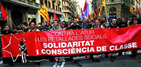 L'esquerra independentista a la manifestació de l'1 de maig d'enguany a Barcelona