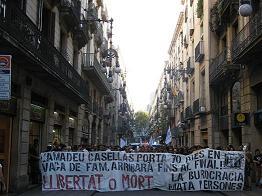 Manifestació de suport a la lluita d'Amadeu Casellas