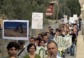 Manifestació contra el Pla de Carreteres a Mallorca