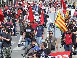 Manifestació convocada per al CGT al Vallès amb el suport d'organitzacions i col·lectius socials