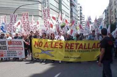 Matí de piquets i manifestació espontània a València