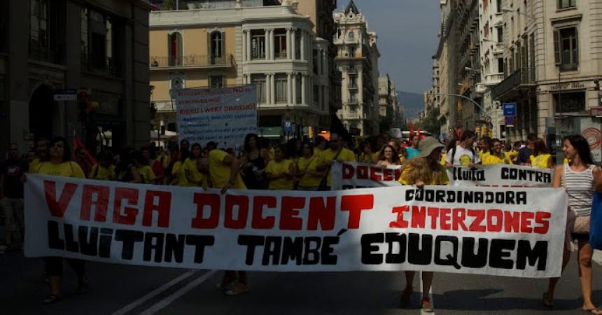 La vaga de l'ensenyament públic a l'inici de curs posa sobre la taula les retallades de Rigau