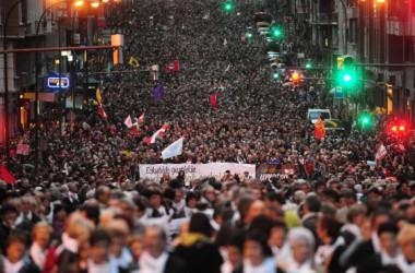Gran manifestació al País Basc en suport als presoners polítics