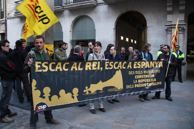 Concentració contra els borbons a Girona. Foto: Sònia Bagudanch