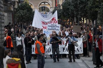 Manifestació contra la corrupció a Palma el 20 de març