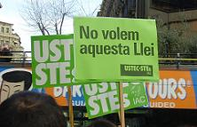 Manifestació contra la privatització de l'ensenyament. Foto: Aida Morales