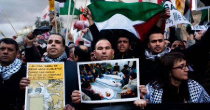 Cassolada a Barcelona en solidaritat amb Palestina