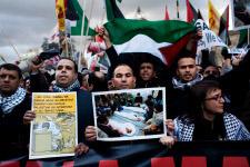 Mobilització a Barcelona el mes de gener per denunciar l'atac contra Gaza
