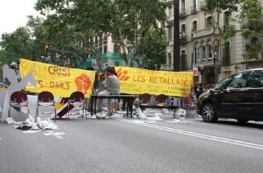 Acció a Barcelona contra l'empresa del president de la CEOE