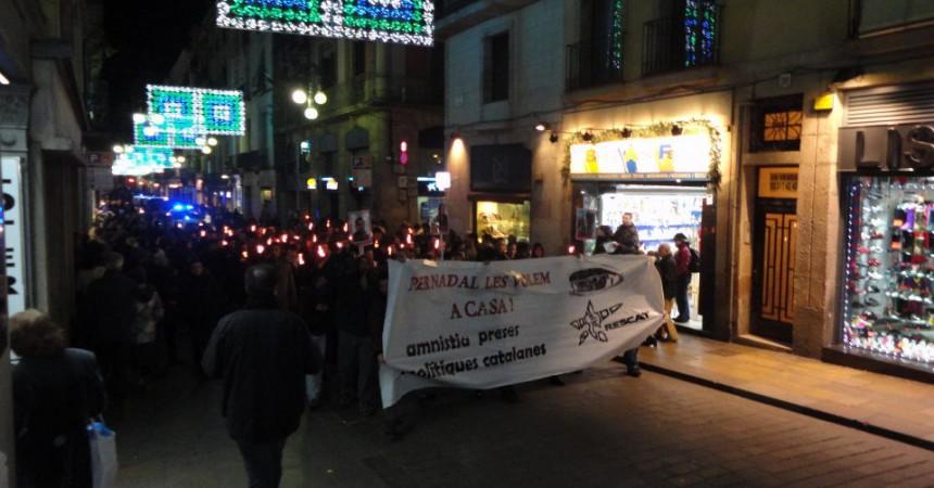 Un any més diverses marxes reclamen la llibertat dels presos i preses polítiques