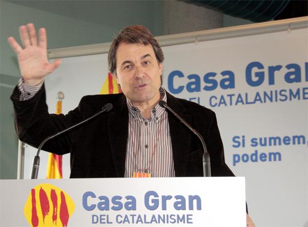 Artur Mas en un acte de la plataforma social del seu partit