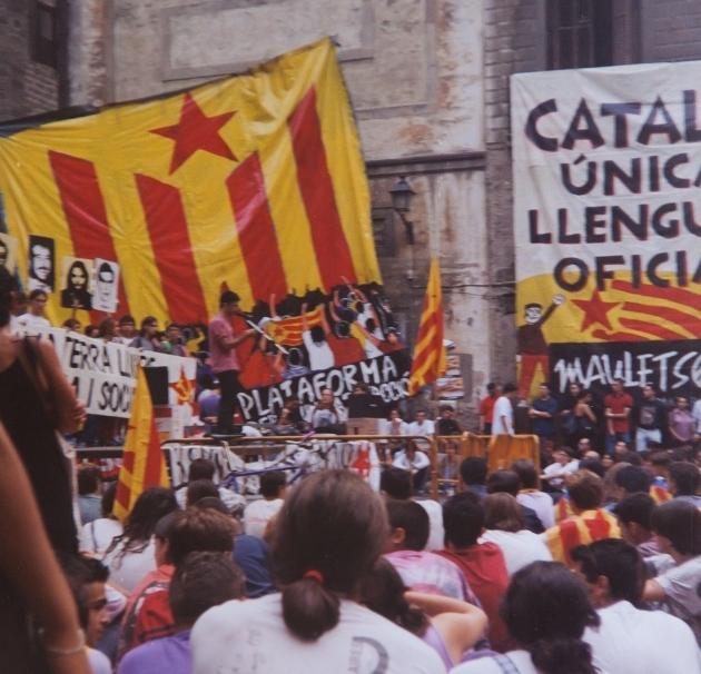 Acte independentista al fossar l'any 1997