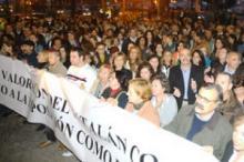 Mobilització dels metges contraris a la mesura a favor del català