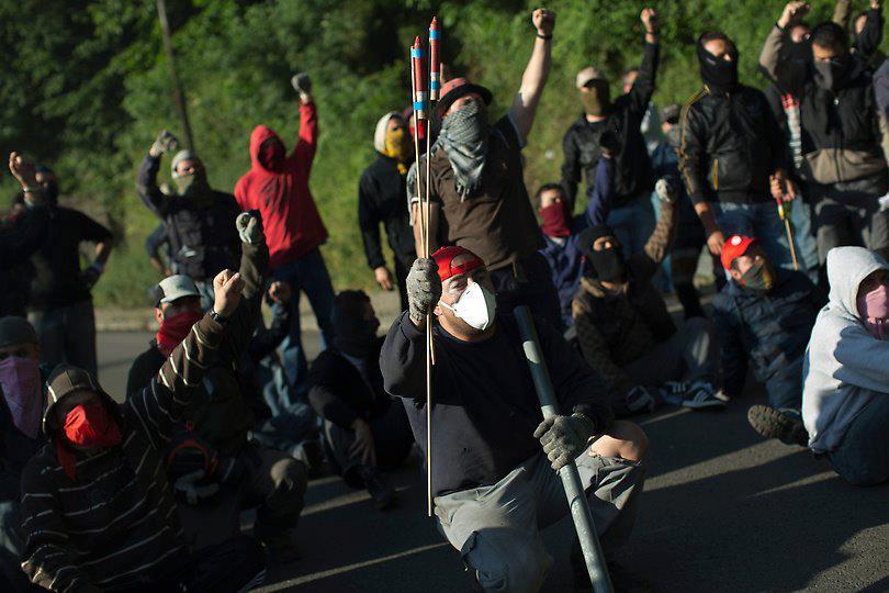 Els miners han intentat fer extensible la seva lluita a altres sectors en lluita