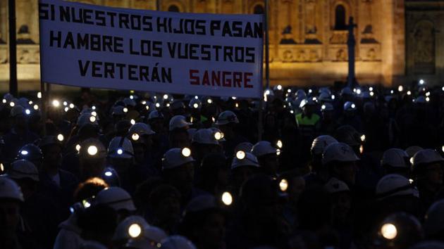 La lluita del sector de la mineria compta amb un suport molt ampli a Astúries