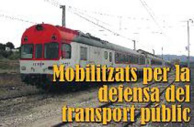 Mobilitzats per la defensa del transport públic