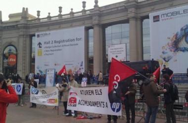 Es desconvoca la vaga de TMB però segueixen les protestes davant el Mobile Congress
