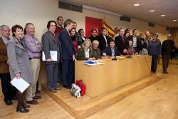 Presentació dels observadors internacionals que segueixen la consulta