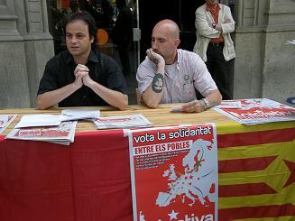 Jaume Asens i Josep Garganté durant la roda de premsa