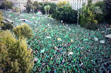 Més de 100.000 al carrer en solidaritat amb la vaga indefinida de mestres a les Illes