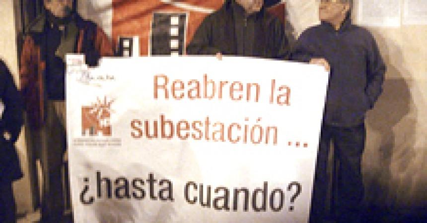 Protesta a Patraix per la reobertura de la subestació elèctrica