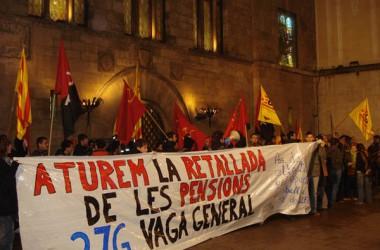 Concentració a Lleida contra la reforma de les pensions