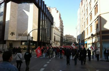 Piquets, acció i repressió policíaca en un matí de vaga
