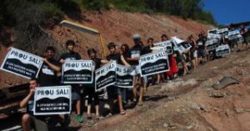 Prou Sal! para momentàniament el creixement de la muntanya de sal de Sallent