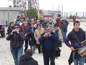 Marxa contra el tancament del repetidor a la serra de Perenxisa