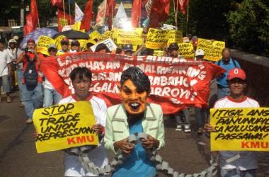 Greu retrocés dels drets sindicals al Món