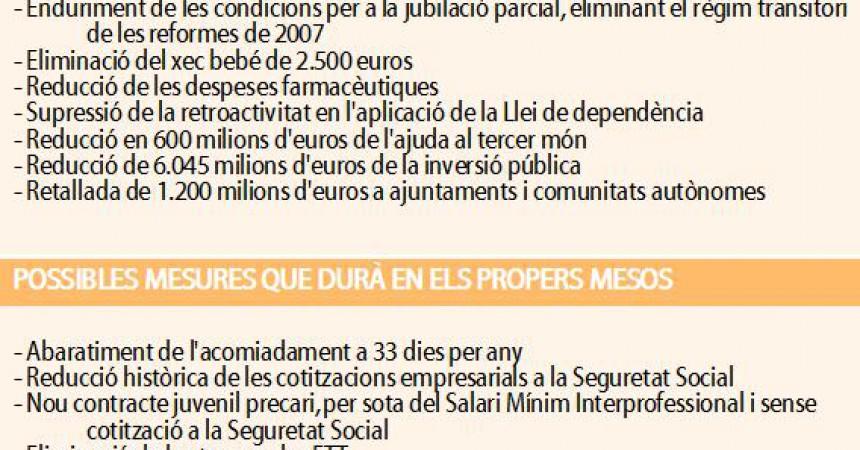 El Govern espanyol prepara noves retallades socials i laborals pels propers mesos
