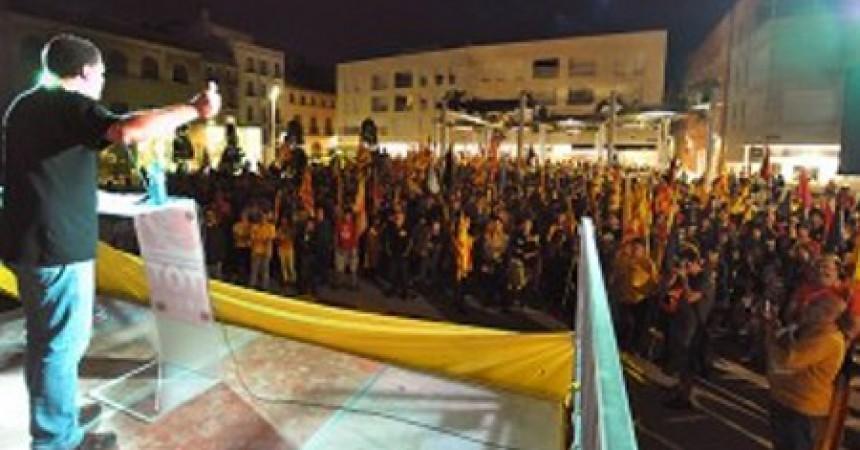 11 setembre 2013.  L'esquerra independentista es mobilitza poble a poble