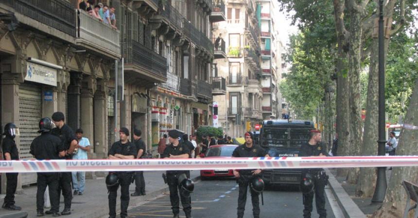 Càrregues i detencions durant el desallotjament de La Rimaia