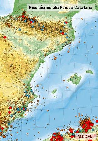 risc sísmic Països Catalans