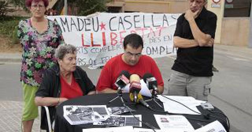 Amadeu Casellas inicia la quarta setmana de vaga de fam
