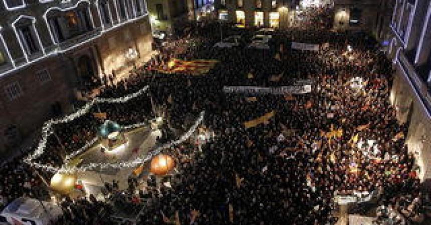 Clam als carrers en defensa del català a l'escola i contra la llei LOMQE