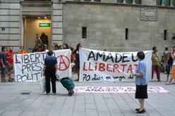 Solidaritat amb l'Amadeu Casellas durant la vaga de fam