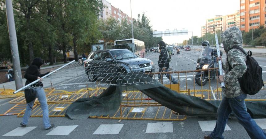 Talls als accessos a l'àrea metropolitana de Barcelona