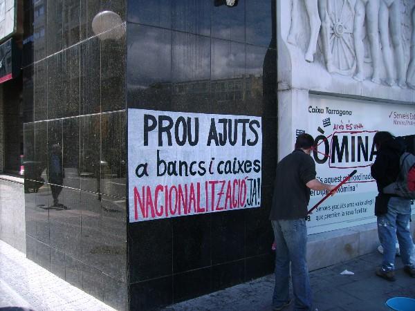 Protesta contra la crisi a Tarragona. Foto: Diego Corredor