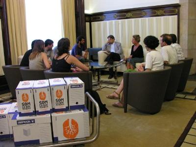 Audiència al Parlament principatí dels promotors de la ILP, l'estiu passat. FOTO: Parlament.cat