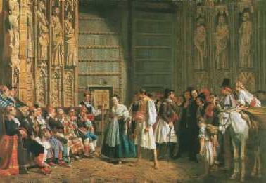 Quadre del 1885 del Tribunal de les Aigües