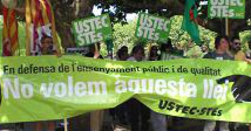 La LEC s'aprova amb l'oposició unànime dels sindicats d'ensenyants