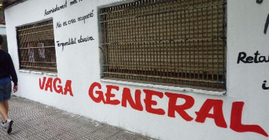 Convocada la vaga general el 29 de març