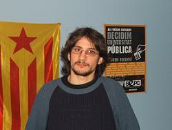 Tomàs Sayes, l'estudiant de la UAB que està en vaga de fam
