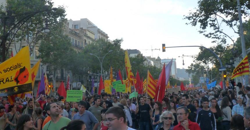 Fotos de la manifestació de la Vaga General a Barcelona