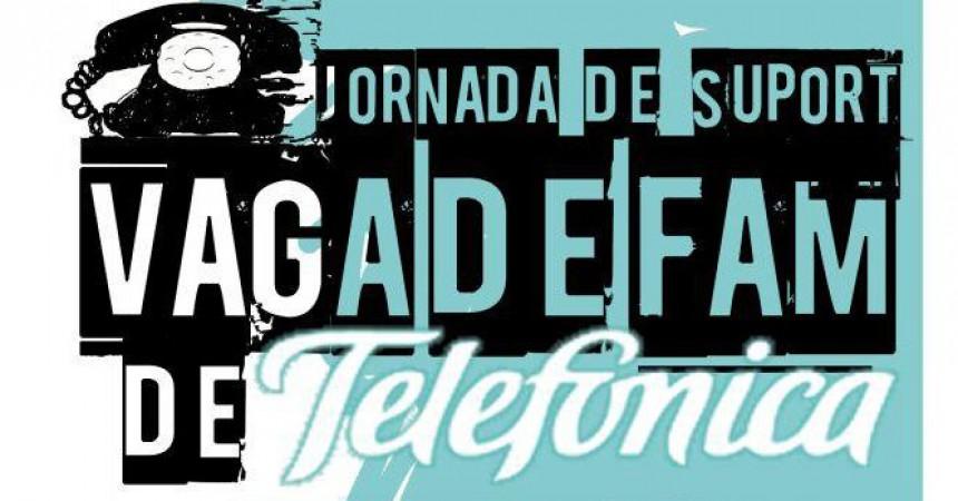 Treballadors de Movistar-Telefónica inicien una vaga de fam contra els acomiadaments per baixa per malaltia