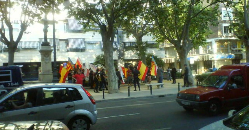 Un centenar de persones desafien l'amenaça dels feixistes en l'acte central d'II-SP València