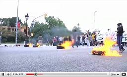 Vídeo de les accions a Barcelona durant la vaga del 8 de juny