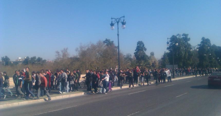 Arranca amb força la vaga general al País Valencià